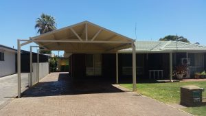 Carport Gable and Flat front Patio