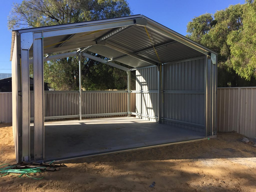 Shed - 1 concrete and sheeting