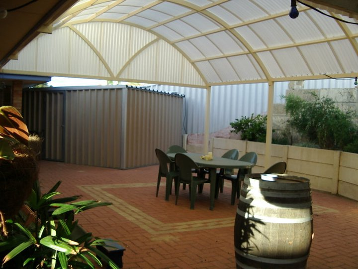 Dome patio with custom truss